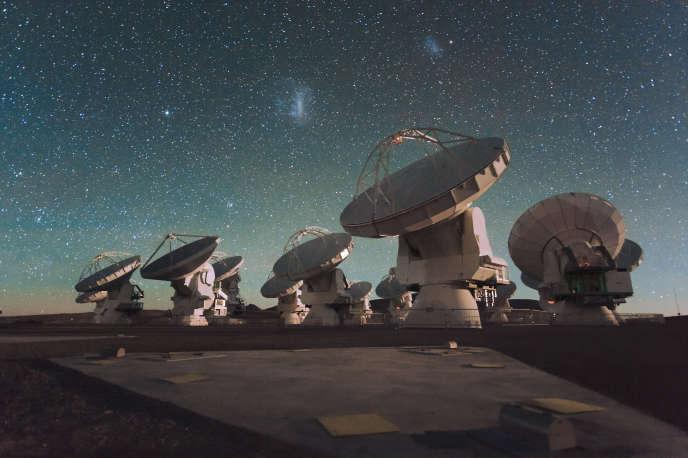 Antennes d'ALMA, dans les Andes chiliennes.