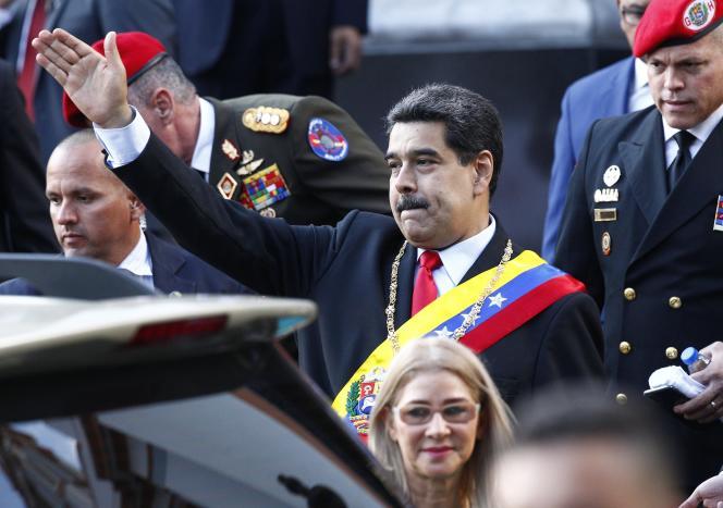 Le président vénézuélien Nicolas Maduro le 7 août à Caracas.