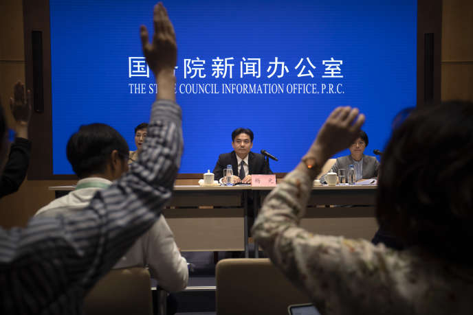 Yang Guang, porte-parole du cabinet chinois des affaires étrangères, le 6 août à Pékin.