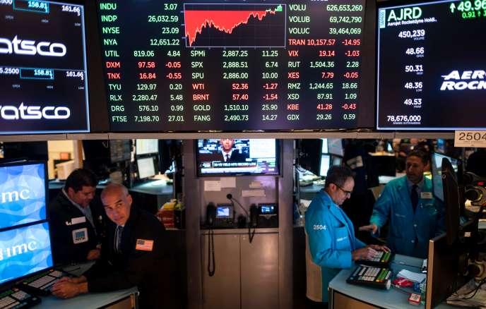 «Près de dix ans d'expansion sans accroc majeur, c'est du jamais vu dans l'histoire des Etats-Unis» (Photo: le New York Stock Exchange, le 7 août).