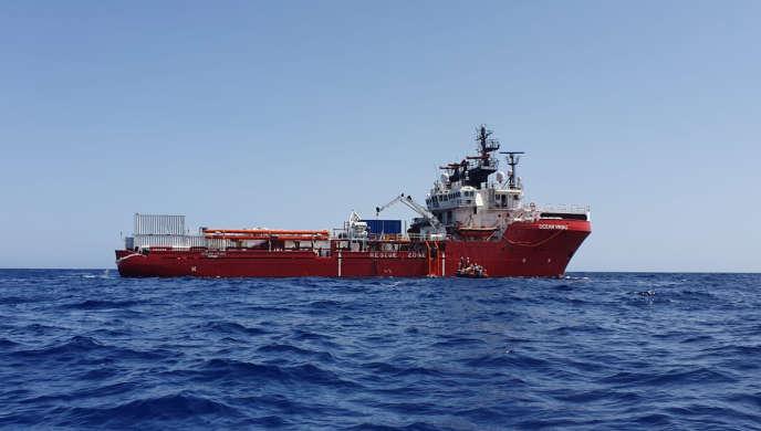 L'«Ocean Viking», mercredi 7 août.