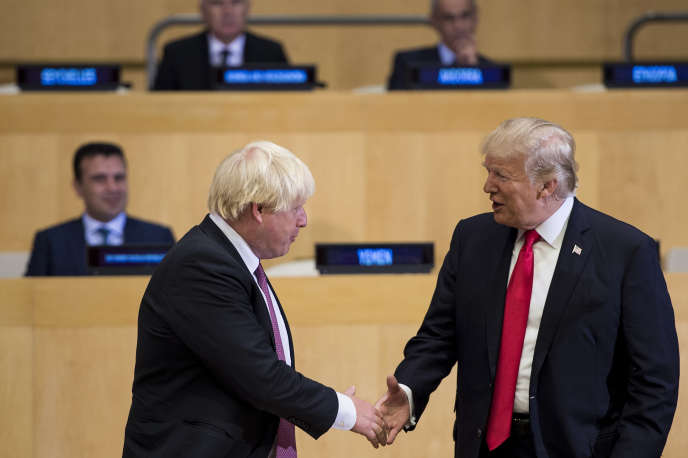 Boris Johnson et Donald Trump au siège des Nations unies à New York, en septembre 2017.