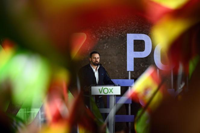Meeting du parti d'extrême droite Vox, le 26 avril, à Madrid.