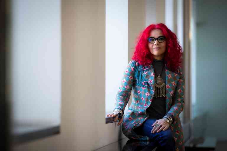 Egyptian feminist author and journalist Mona Eltahawy poses for the photographers during an interview granted to Agencia Efe in Barcelona, Spain, 22 March 2019 (issued on 24 March 2019). Eltahawy visited Spain to present the Spanish language edition of her book 'Headscarves and Hymens: Wy the Middle East Needs a Sexual Revolution''. EFE/Enric Fontcuberta//EFE_20190324-636890315629109184/1903241346/Credit:Enric Fontcuberta/EFE/SIPA/1903241346