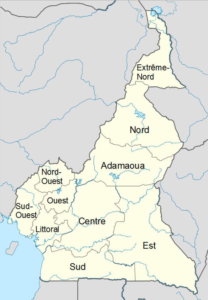 Les régions du Cameroun.