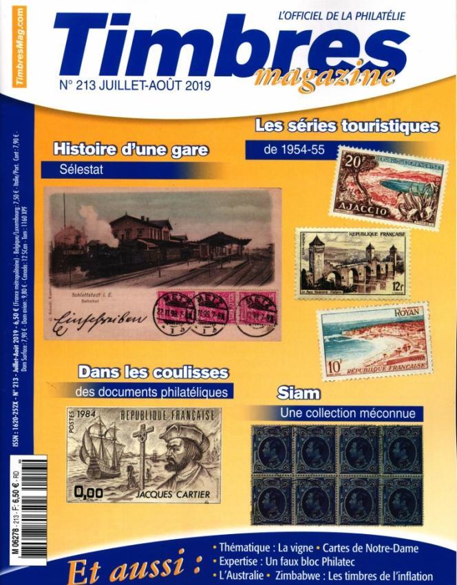« Timbres magazine» (Timbropresse), en vente en kiosques.