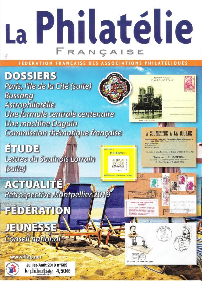 « La Philatélie française», éditée par la Fédération française des associations philatéliques, en vente par abonnement.