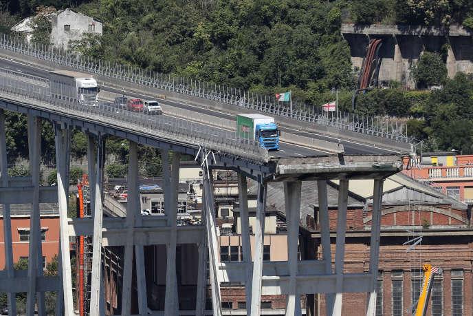 Le pont Morandi de Gênes s'est effondré le 14 août 2018.