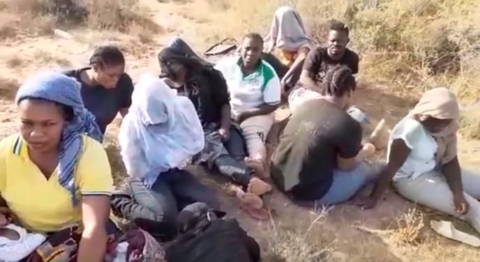 Capture d'écran d'une vidéo tournée par un migrant ivoirien, le 3août 2019, près de la frontière tuniso-libyenne.