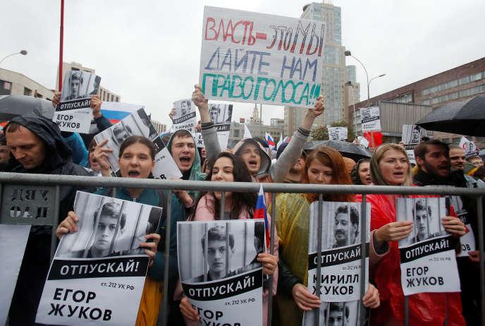 Les manifestants réclament l'autorisation des candidats d'opposition.