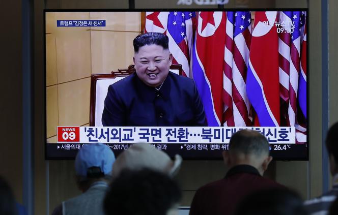 Reportage sur les tirs de projectiles par la Corée du Nord, le 10 août à Séoul, Corée du Sud.