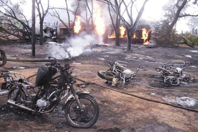 La scène de l'accident, samedi 10 août.