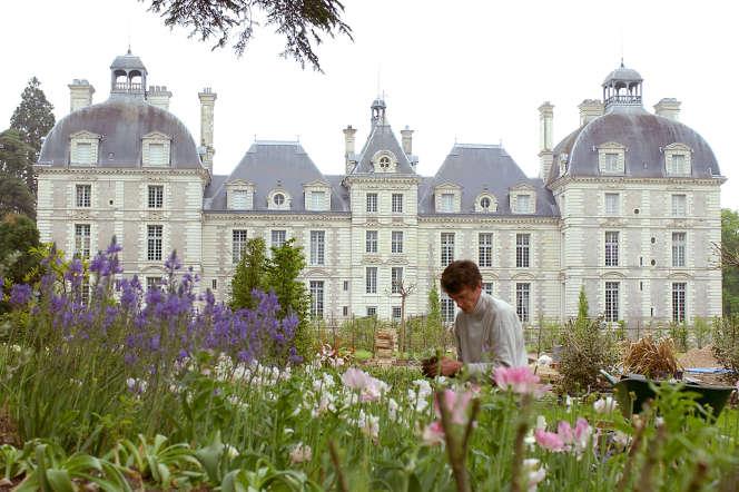 Les jardins du château de Cheverny (Loir-et-Cher).