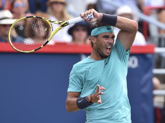 Rafael Nadal, dont le bras gauche fait des miracles sur les courts de tennis, ici le 11 août 2019 à Montréal.