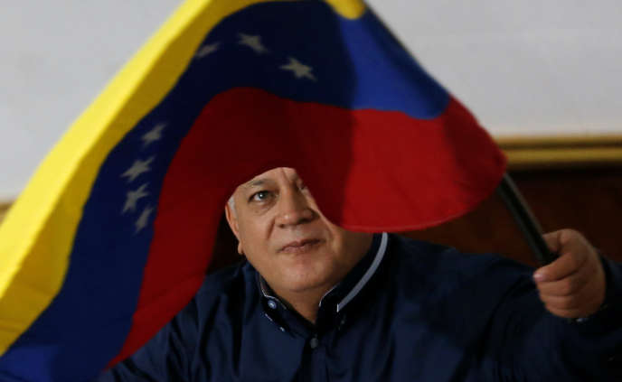 The President of the Constituent Assembly of Venezuela, Diosdado Cabello, in Caracas, at the meeting of 12 August.