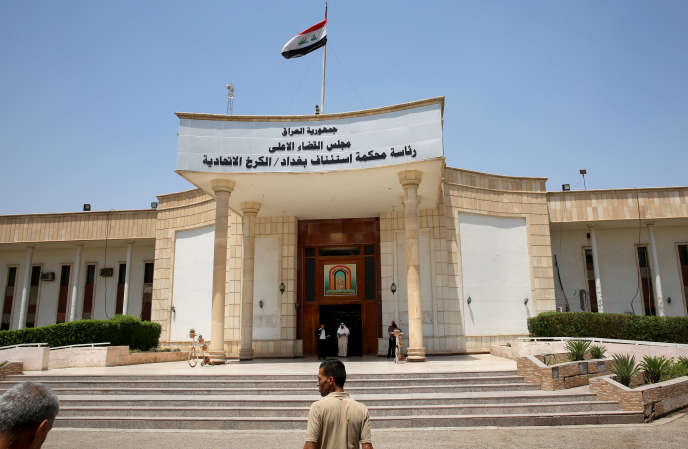 La cour d'appel de Bagdad, le 29 mai, où ont été jugés des djihadistes français.