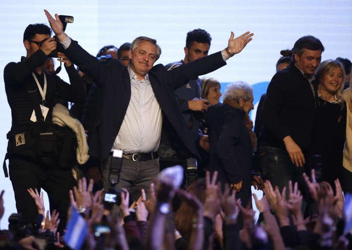Le candidat à la présidentielle Alberto Fernandez, à Buenos Aires, le 11 août.