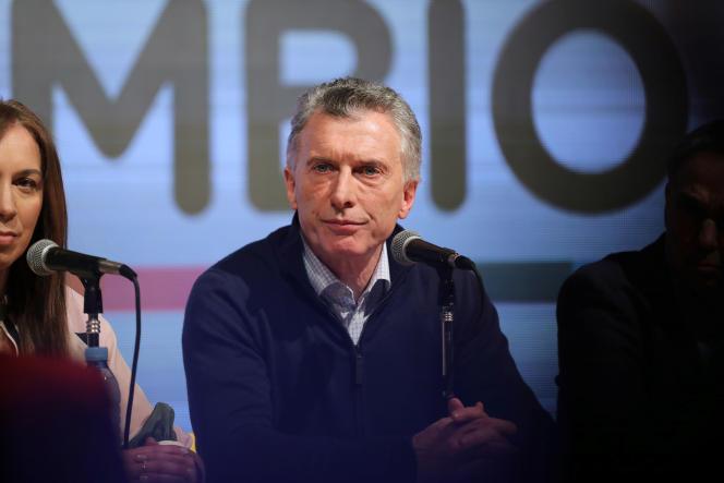 Le président argentin sortant Mauricio Macrià Buenos Aires, dimanche 11 août.