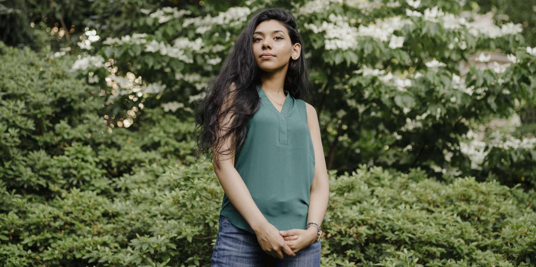 Lamia Rahman, fille d'un chauffeur de taxi immigré du Bangladesh, à Columbia University, où elle fait des études de médecine, le 10 juin.