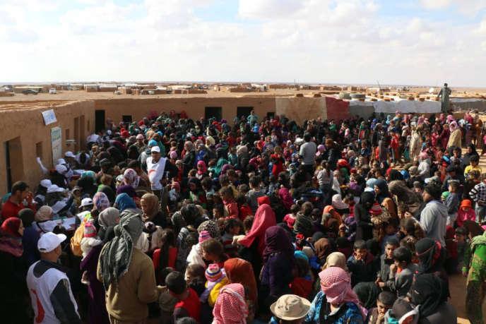 Le camp de déplacés syriens de Rokbane, à le frontière syro-jordanienne, en novembre 2018.