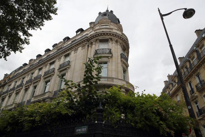 L'appartement deJeffrey Epstein, dans le 16e arrondissement de Paris, le 13août.