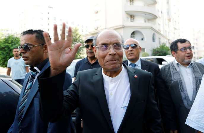 L'ancien président tunisien Moncef Marzouki à Tunis, le 7 août 2019.