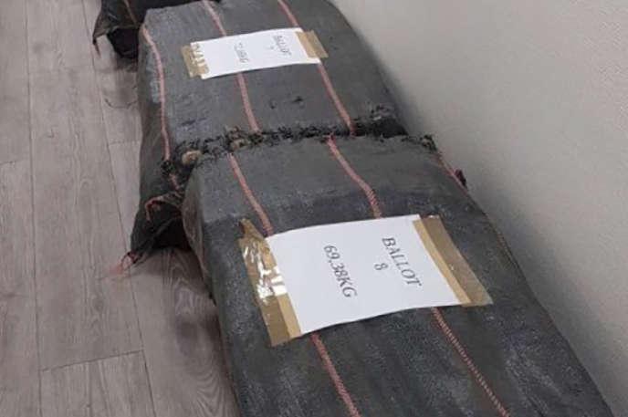 La cocaïne saisie par les douanes françaises le 14 août.