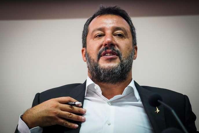 Le ministre intérieur italien, Matteo Salvini, à Castel Volturno, le 15 août.
