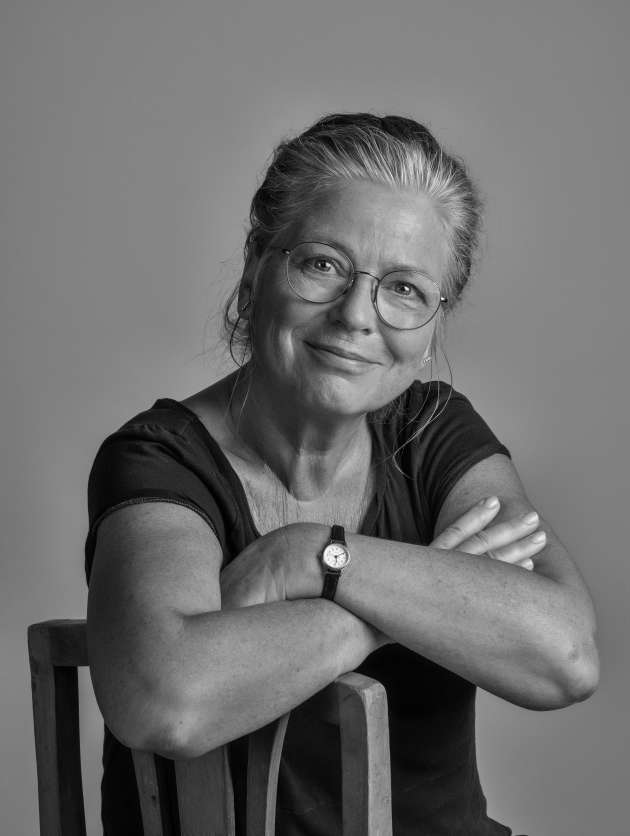 Ulrike Poppe, dans son appartement de Prenzlauer Berg, à Berlin, en août.
