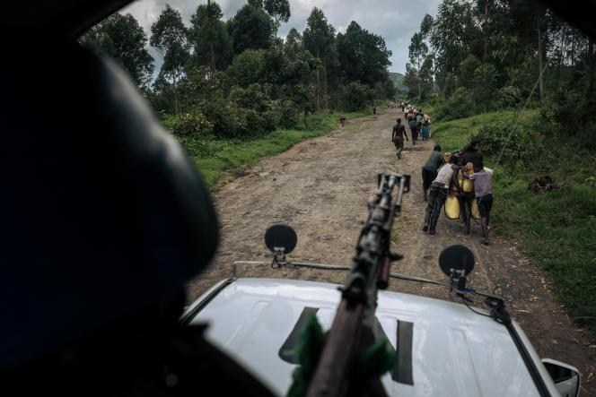 Une patrouille de la Mission des Nations unies en RDC (Monusco), dans la province du Nord-Kivu, en avril 2019.