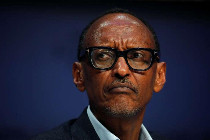 Le président rwandais, Paul Kagame, au Forum économique mondial de Davos, en Suisse, le 23janvier 2019.
