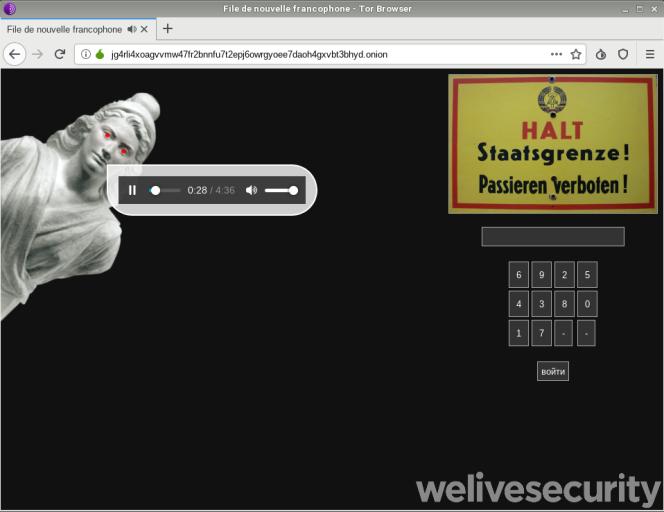 Cette page Web serait utilisée par les auteurs de Varenyky, selon ESET. Elle arégulièrement changé.