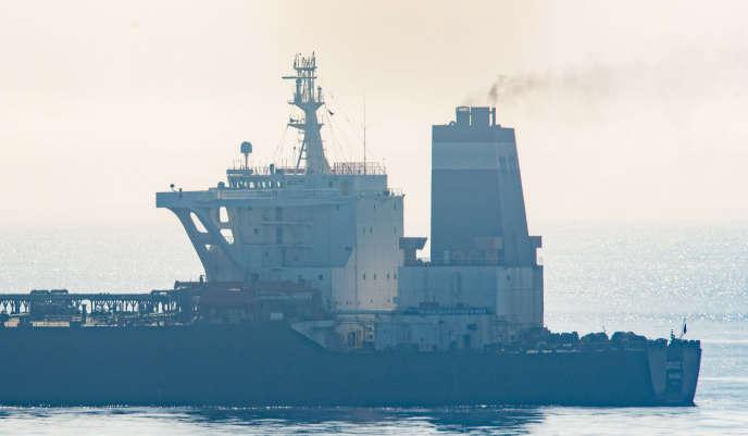 Le pétrolier iranien «Grace-1»au large de Gibraltar, le 16 août.
