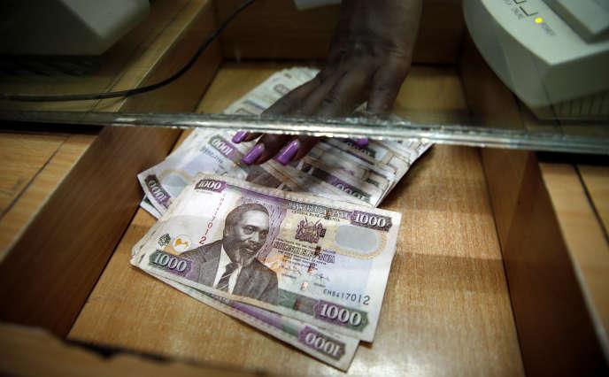 Dans un bureau de change à Nairobi, au Kenya, en avril 2016.