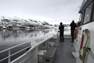 Dans un fjord de l'archipel du Svalbard.