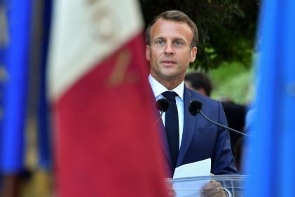 Emmanuel Macron, à Bormes-les-Mimosas, le 17 août.