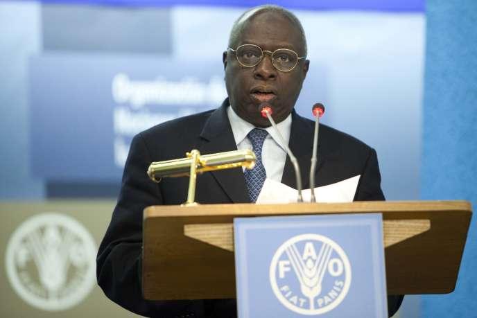 Jacques Diouf, au siège de la FAO, à Rome, Italie, le 17 octobre 2011.