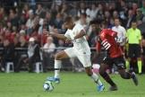 Eduardo Camavinga face à Kylian Mbappé, le 18 août à Rennes.