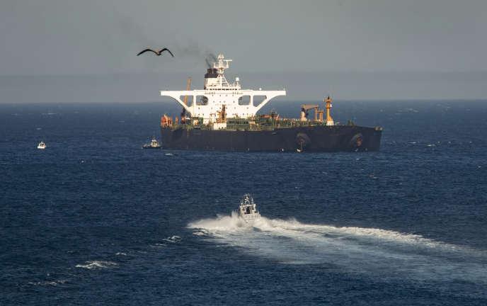 L'Adrian-Darya-1, le 18 août à Gibraltar.