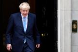 Le premier ministre britannique Boris Johnson devant le 10 Downing Street, à Londres, le 7 août.