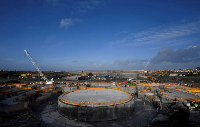 Le chantier de construction de l'EPR d'Hinkley Point (sud-ouest de l'Angleterre), en janvier 2018.