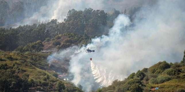 Douze mille hectares brûlés sur l'île de Grande Canarie