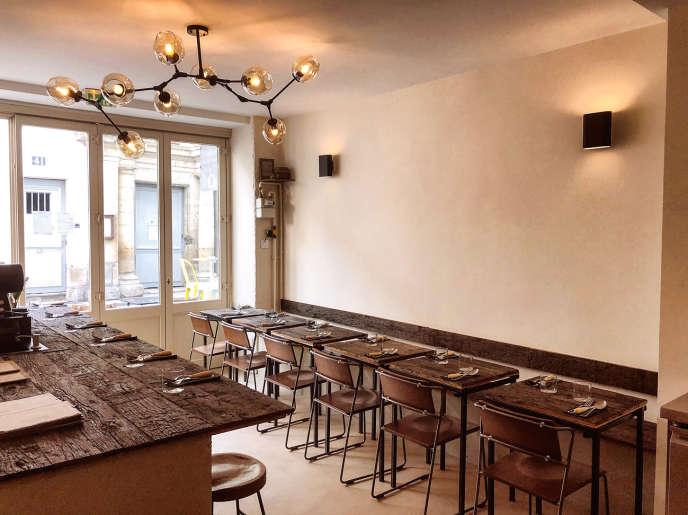 L'intérieur durestaurant Chinaski, à Paris, dans le 5e arrondissement.