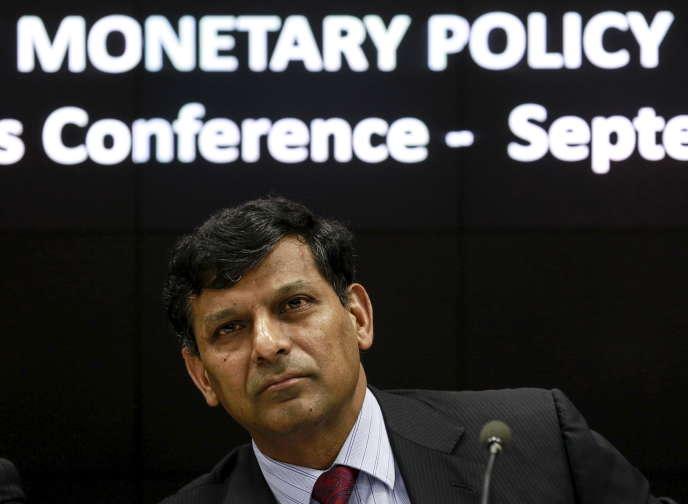 L'économiste Raghuram Rajan, alors gouverneur de la banque centrale de l'Inde, à Bombay, en septembre 2015.