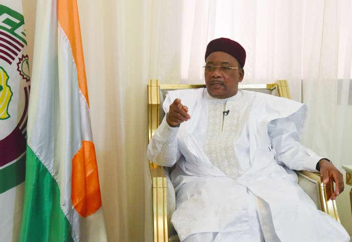 Le président nigérien, Mahamadou Issoufou, à Niamey, le 6juillet 2019.