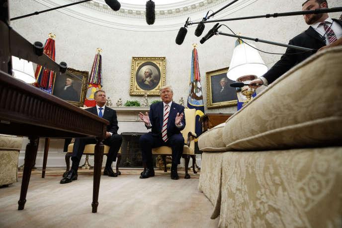 Le président des Etats-Unis Donald Trump en conférence de presse à la Maison Blanche, le 20août.