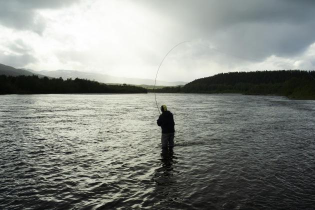 La rivière à saumons sauvages Alta dans la région du Finnmark, au nord de la Norvège, le 27 juin. La pêche, très réglementée, s'ypratique uniquement quelques semaines par an.