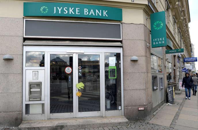 Une agence de la Jyske Bank, à Copenhague, la capitale du Danemark, en novembre 2013.