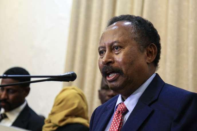 Le premier ministre de transition, Abdallah Hamdok, le 21 août 2019 à Khartoum.