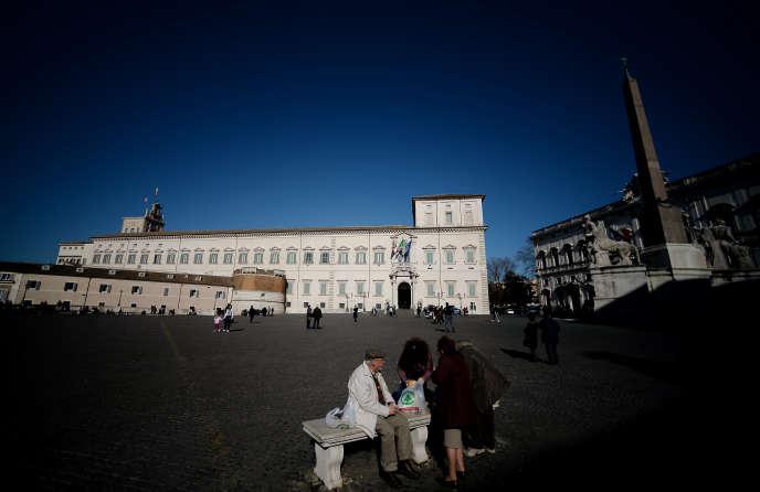 Le palais du Quirinal, à Rome, en 2014.